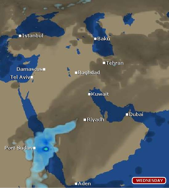 حاله الطقس بجده الثلآثاء 10 4 1432 صور