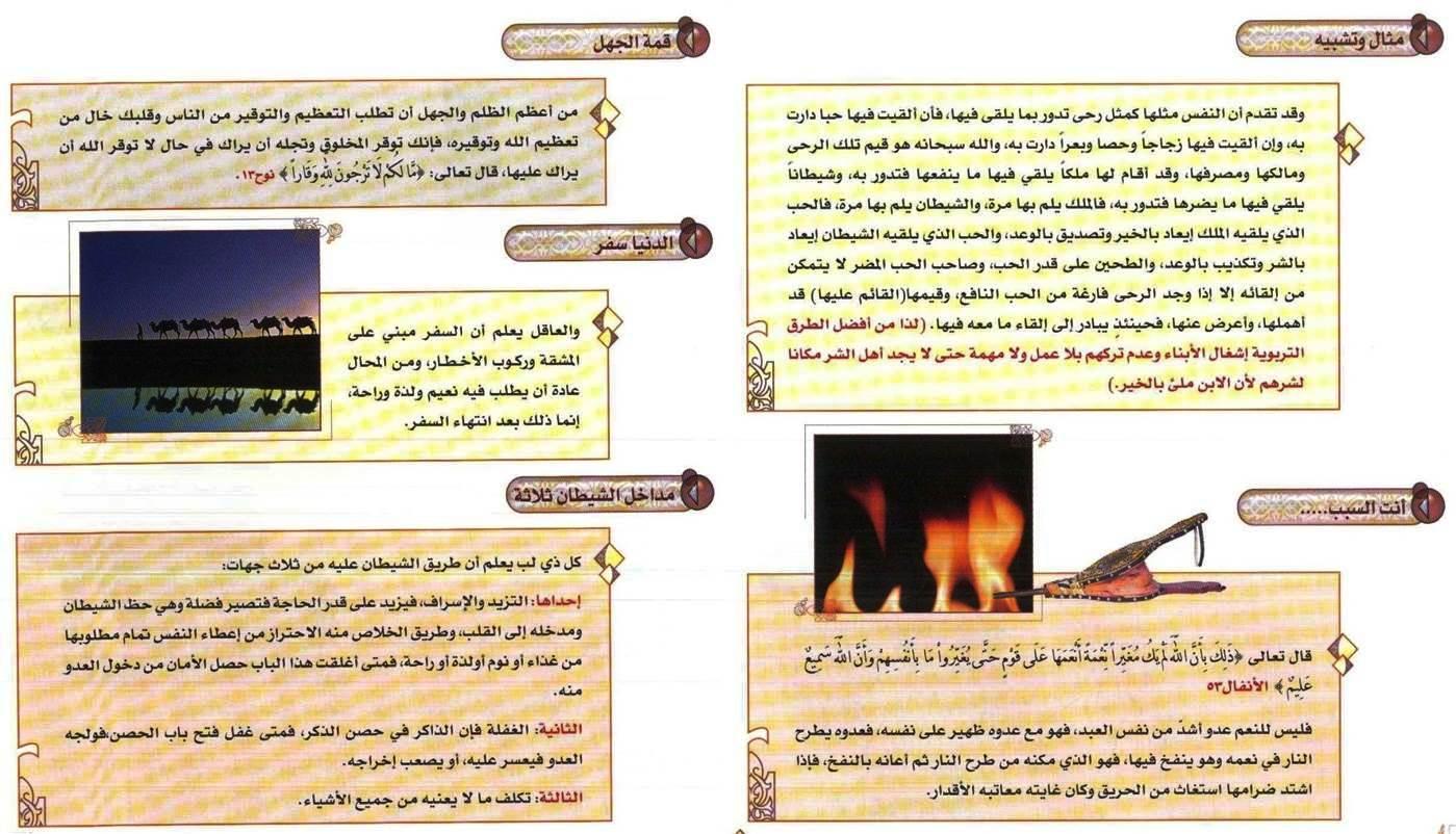 ملخص كتاب الفوائد لابن القيم مع الصور والتعليق  رابط تحميل الكتاب 14383950841.jpg